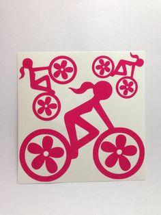 Cool Road bike girl decals!