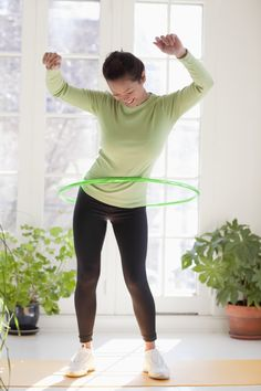 Get fit...with a hula hoop!  #fitness #exercise