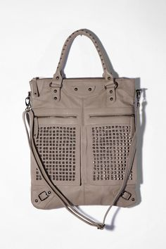 7 Chi Pyramid Studded Tote