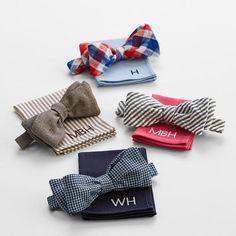 gentlemen's bow tie set