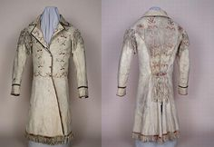 Metis animal hide coat with quill embroidery. Missouri Historical  Society Museum Collections.