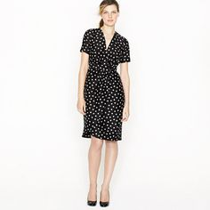 j. crew Wrap dress in moon dot
