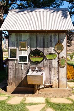 Outhouse mirrors, mirror mirror, floral design, old dressers, outdoor, sinks, sheds, mirrormirror, gardens