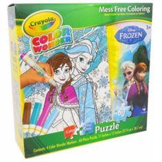 Disney Frozen Anna & Elsa 60-pc. Crayola Coloring Puzzle by Cardinal