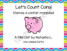Lets Count Coins!  (English and Spanish) from Natasha L's Corner on TeachersNotebook.com -  (23 pages)  - Flash cards and task cards for U.S. coins (English and Spanish)
