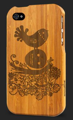 Gorgeous custom bamboo iPhone case -- add your own photo, illustration, or even a logo!