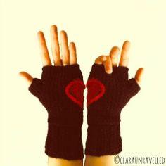 hidden heart, heart glove, gloves, crochet patterns