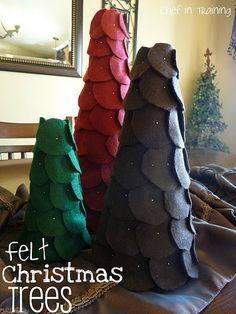 Felt Christmas Trees! Such an EASY project!