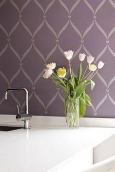 Wall Stencils | Ribbon Lattice Stencil | Royal Design Studio