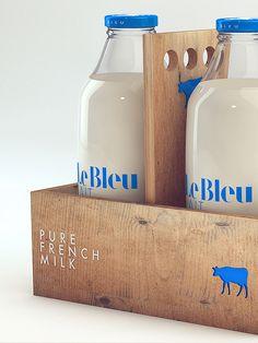 Le Bleu Lait by Isabela Rodrigues, via Behance