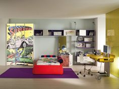 I think my little boy would love to have a superman room one day!