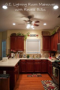 Our kitchen lighting makeover!