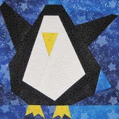Wee Lil' Penguin (paper pieced) - now available as a stand alone pattern on Craftsy!