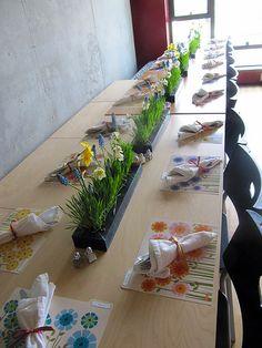 Easter Table Centerpiece Flower Runner