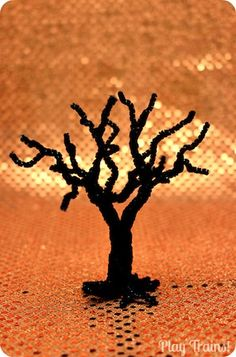 how to make the pipe cleaner base for wool felt trees