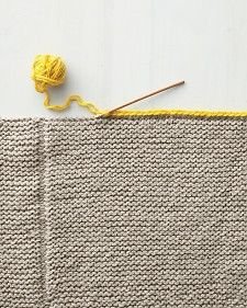 Martha Stewart knit blanket - edging/seaming idea