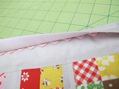 tutori, rickrack edg, sew, bees, bonnet, quilts, rickrack binding, ric rac, quilti projectsa