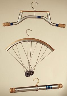 salvaged bicycle hangers