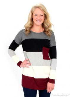 Game On Striped Oversized Sweater