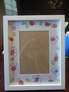 Thumbprint art frame