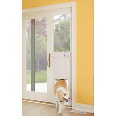 The Automatic Electronic Pet Door - Hammacher Schlemmer