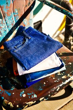 There's no such thing as too much #denim on a road trip. #DreamingInBlue