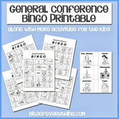 General Conference Printables #lds #conference #bingo blog.bitsofeverything.com