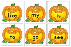 Pumpkin Sight Words