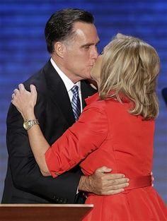 ann and mitt romney kissing   Mitt Romney, Ann Romney