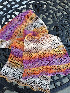 Jaipur scarf - crochet, free pattern.