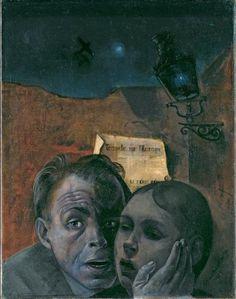felix nussbaum | Felix Nussbaum, Fear (Self-Portrait with his Niece Marianne), 1941 ... self portraits, amaz art, fear selfportrait, holocaust art, paint die, felix nussbaum, niec mariann, 1941, nussbaum fear