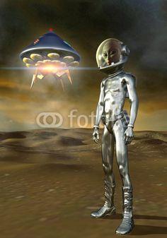 UFO: alien and ufo, art by Luca Oleastri - www.innovari.it #ufo