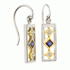 """Love Jane Wullbrandt's """"cathedral"""" w/sapphire and diamond earrings....stained glass was her inspiration!"""
