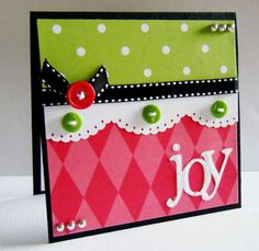 love the colors, handmade card