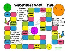 Measurement Math - Time from Kiwi-Steph on TeachersNotebook.com (6 pages)  - Created for my 2nd grade students.  Practice Time to the five minute while having FUN!  Great center or station activity, early finishers, and small groups.