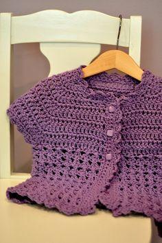 Cap-sleeve toddler sweater.
