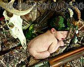 Camo Newborn Camouflage Photography Prop Hunter's Baby Hat
