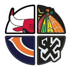 Chicago Bulls, Blackhawks, White Sox, and Bears...