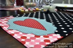 DIY Placemats using Thermoweb Lite or Vinyl.