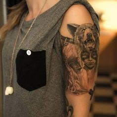#tattoo #ink #girl this is a really awesome tattoo. Design and detail is great.