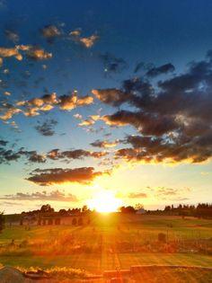 Sunset in Spokane