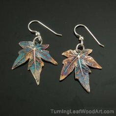 Fine Silver Earrings - Leaf Series Earrings:  $52
