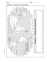 Latitude and Longitude world Map