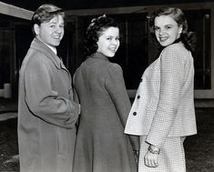 Mickey Rooney, Shirley Temple and Judy Garland at MGM Studios, 1941.