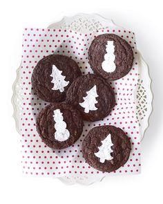 Holiday cookie stencils