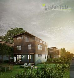 Greenfab 2100 Series with Glass Deck Railing.