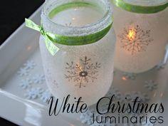 christmas time, idea, masons, christmas crafts, mason jar crafts, white christmas, holiday crafts, mason jars, snowflak