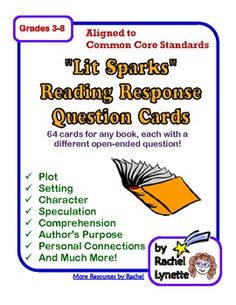 There are so many ways to use these 64 Reading Response Cards! Here are some suggestions:-Use as writing prompts for reading journals.-Requir...