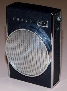 Vintage Sharp 7 Transistor Radio, Model BP-374, AM Band, Made In Japan, Circa 1963.