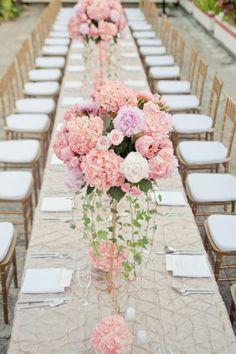Pink #Hydrangea + Peony Centerpiece I Blush Events